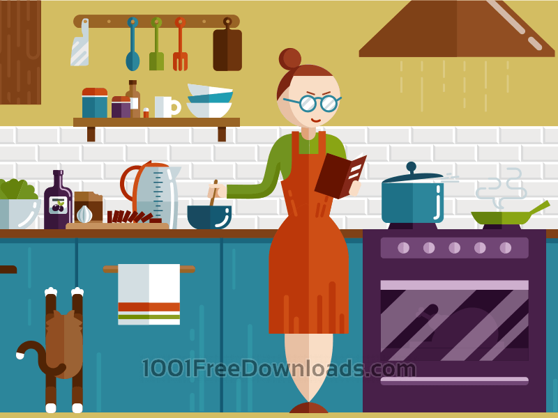 Free Vectors: Kitchen illustration | Objects
