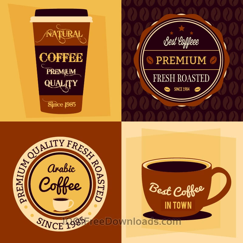 Free Vectors: Coffee flat concept  | Abstract
