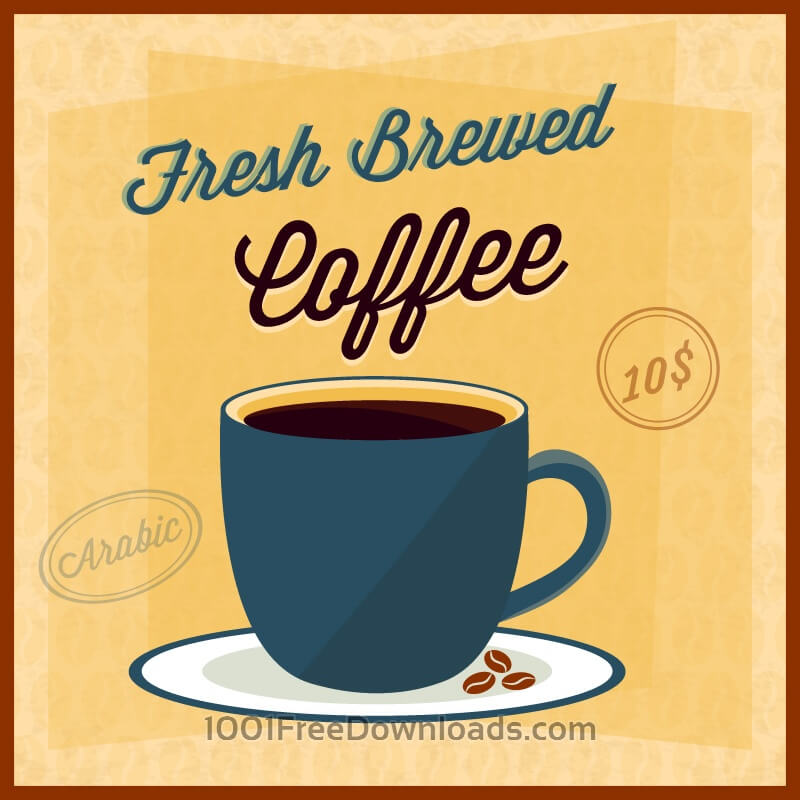 Free Coffee illustration with coffee cup
