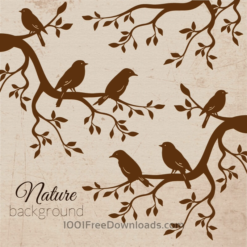 Free Vectors: Vintage bird illustration | Abstract