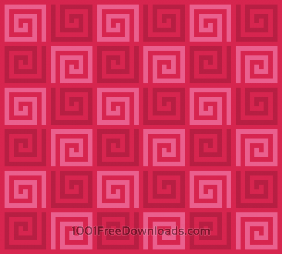 Free Vectors: Red Spirals Pattern | Patterns