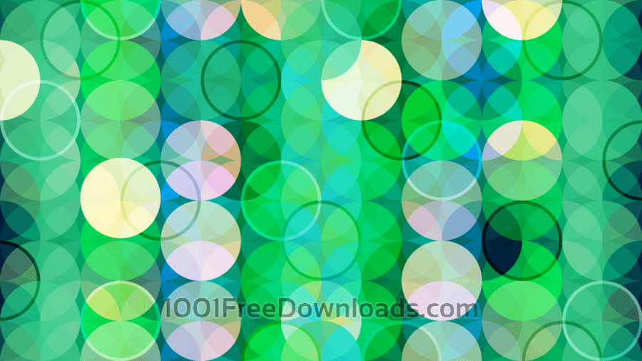 Free Green Abstract Circles