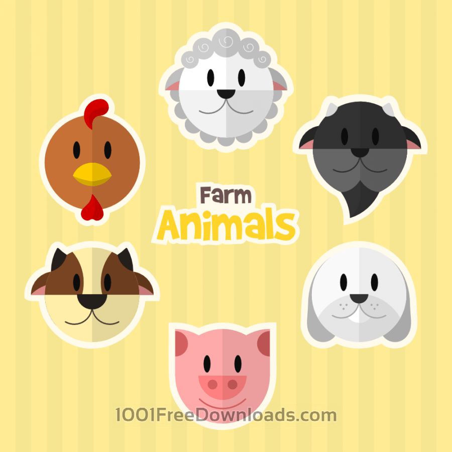 Free Vectors: Farm Animals | Nature