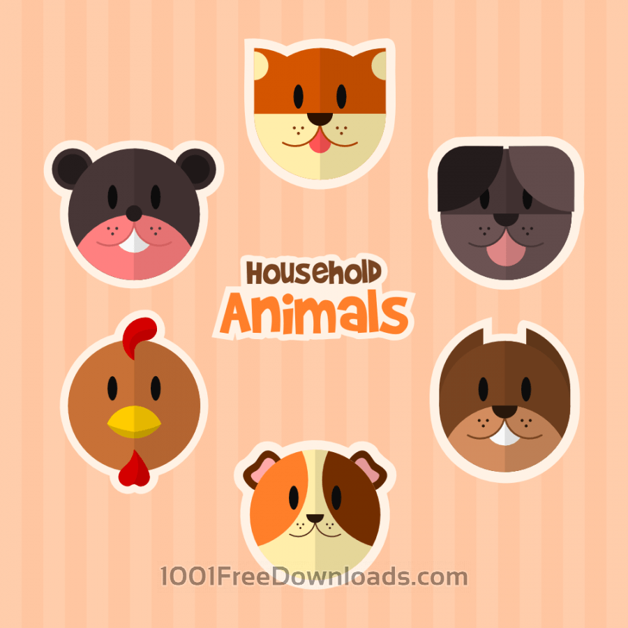 Free Vectors: Household Animals | Animals