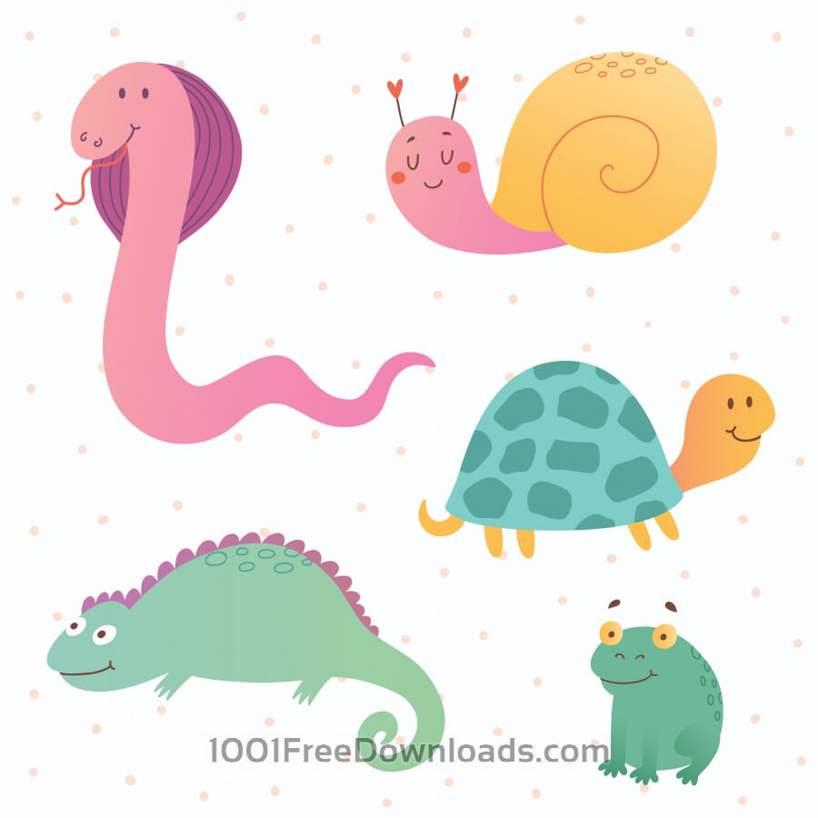 Free Reptile vector set