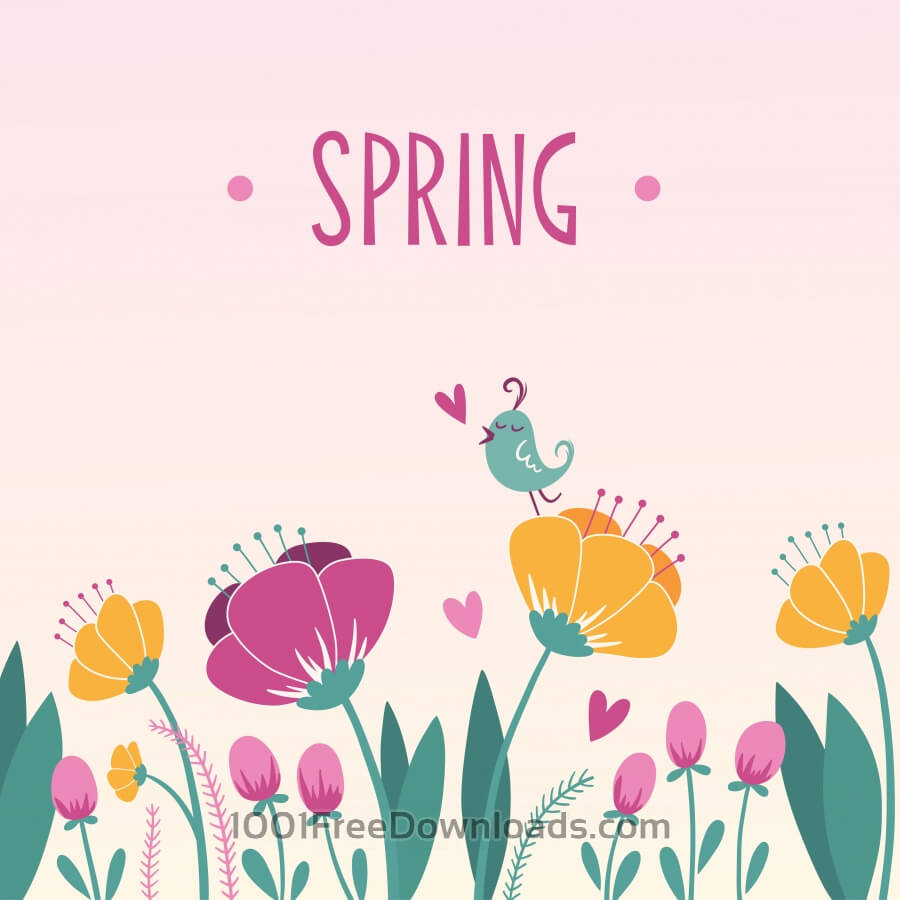 Free Spring floral background