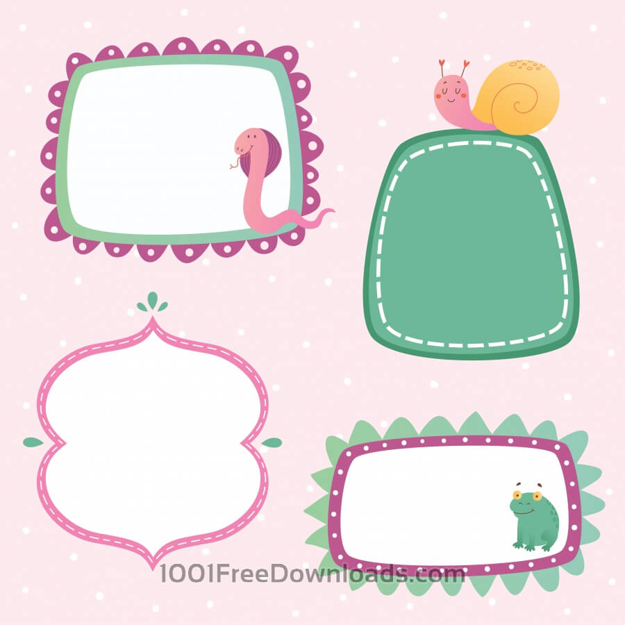Cute frames set
