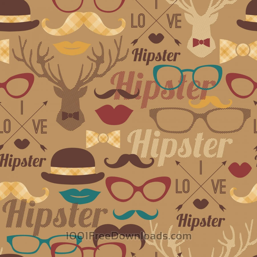 Free Hipster seamless pattern.