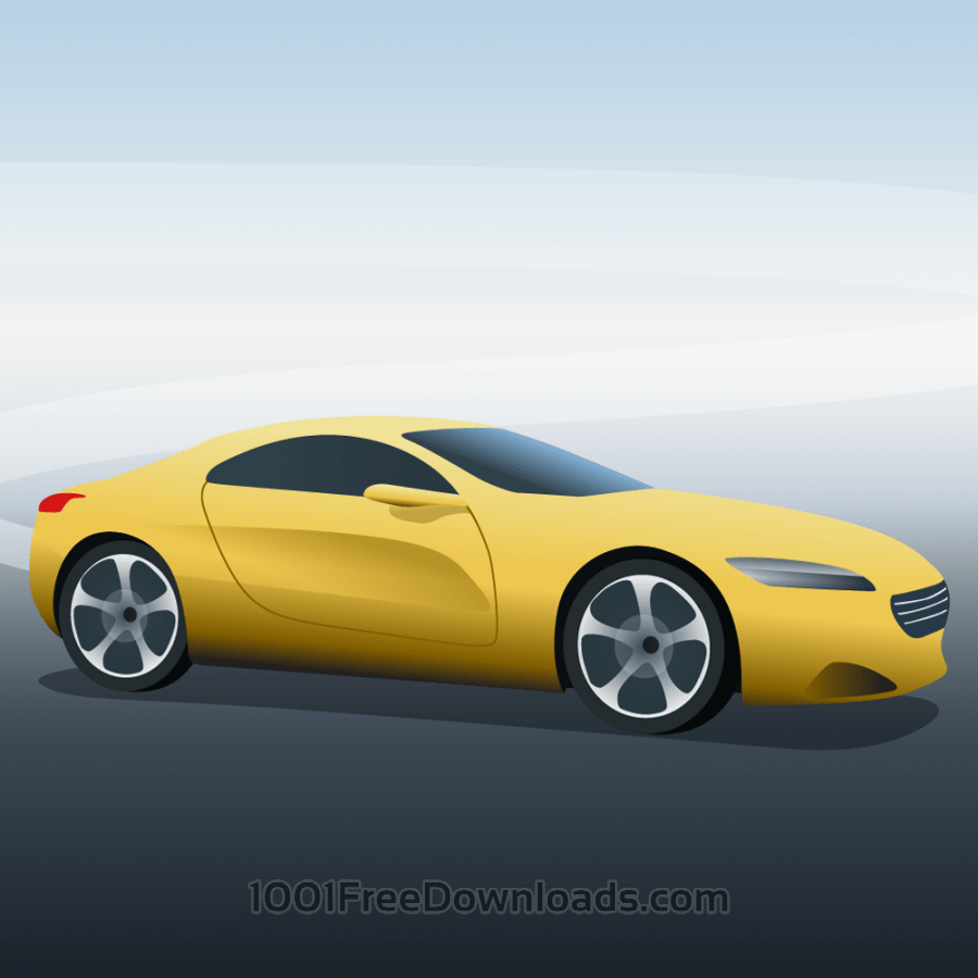 Free Vector illustration Yellow sports car