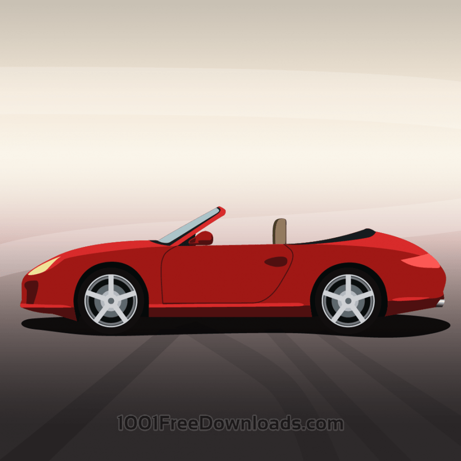 Free Vector illustration Red sports car