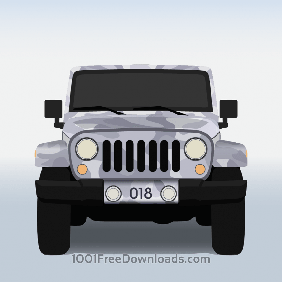 Free Vector illustration Military jeep