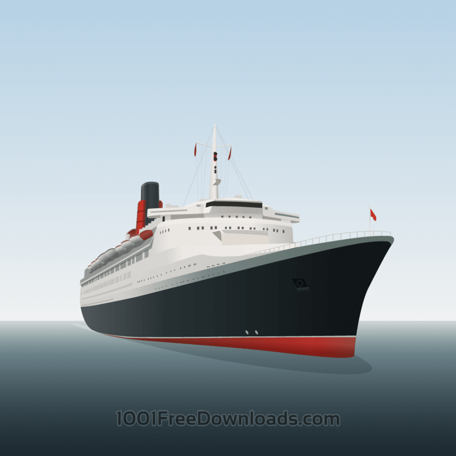 Free Vectors: Vector illustration Ocean liner | Travel