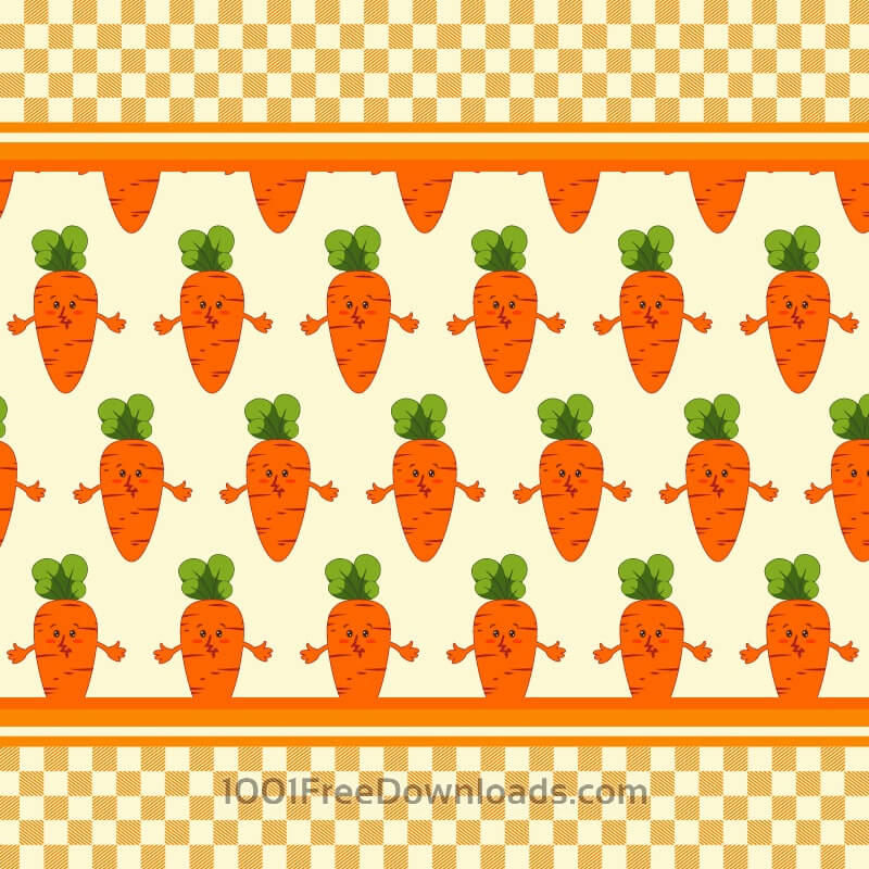 Carrot vector illustration, pattern