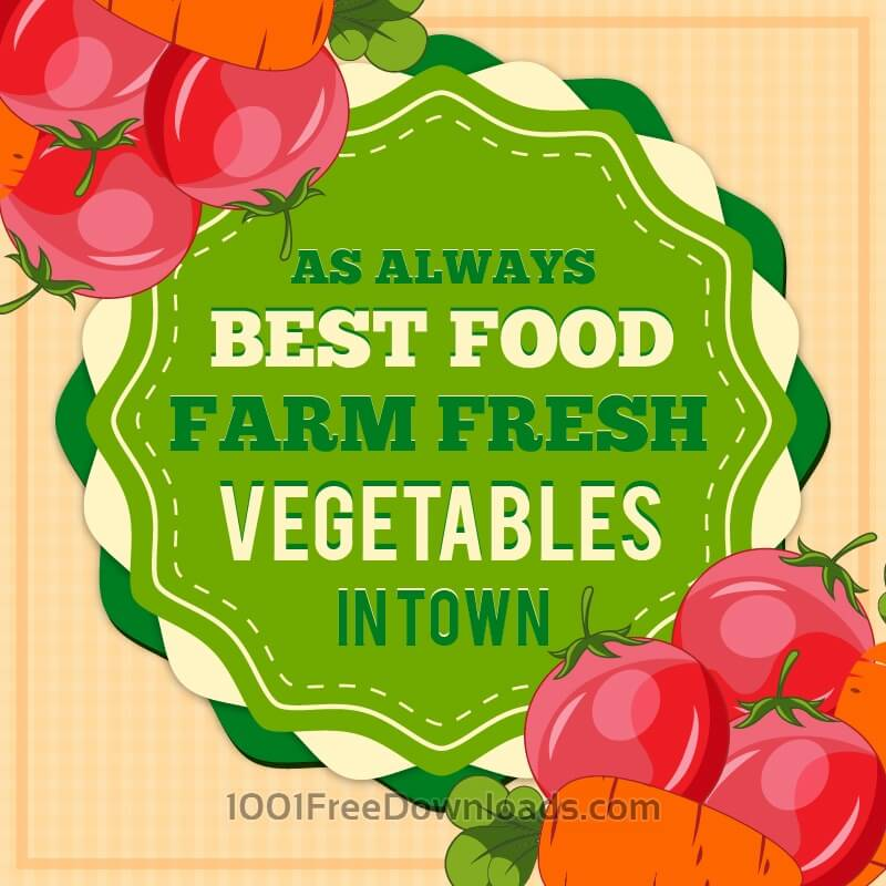 Free Vectors: Vintage fresh food illustration | Abstract