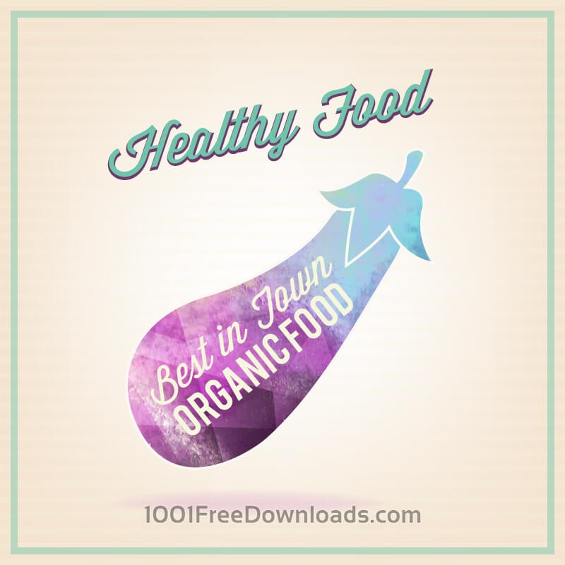 Free Healthy food illustration of watercolor eggplant