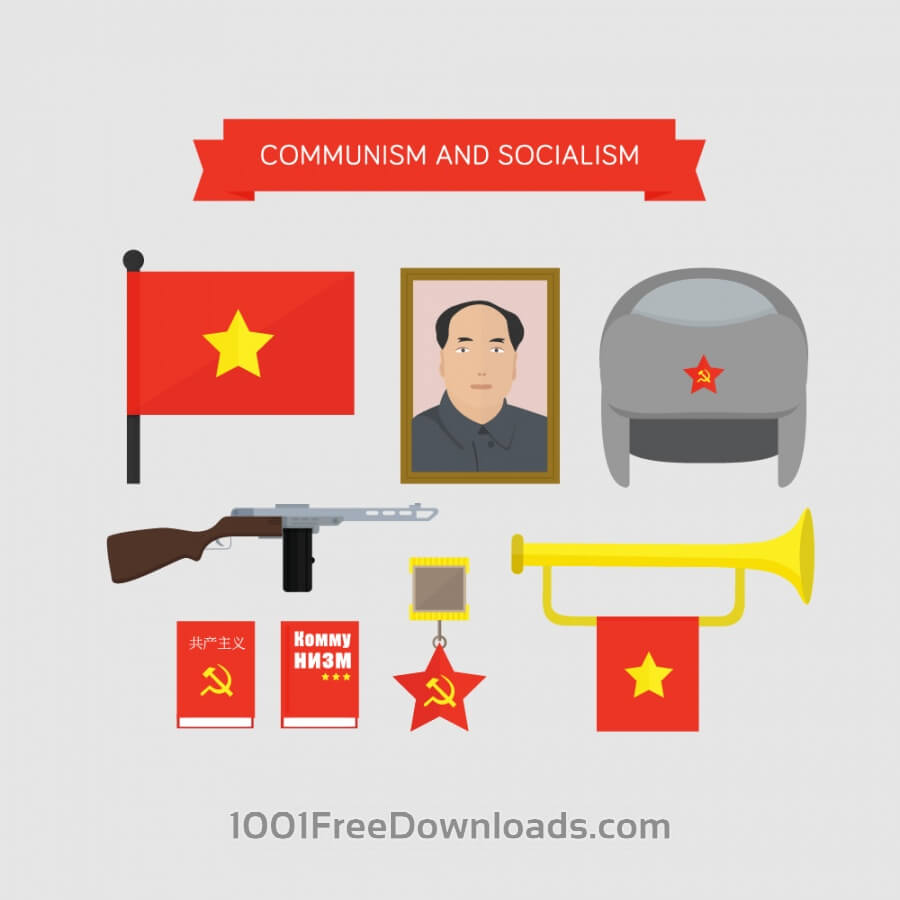 Free Vectors: Communism and socialism icons | Design