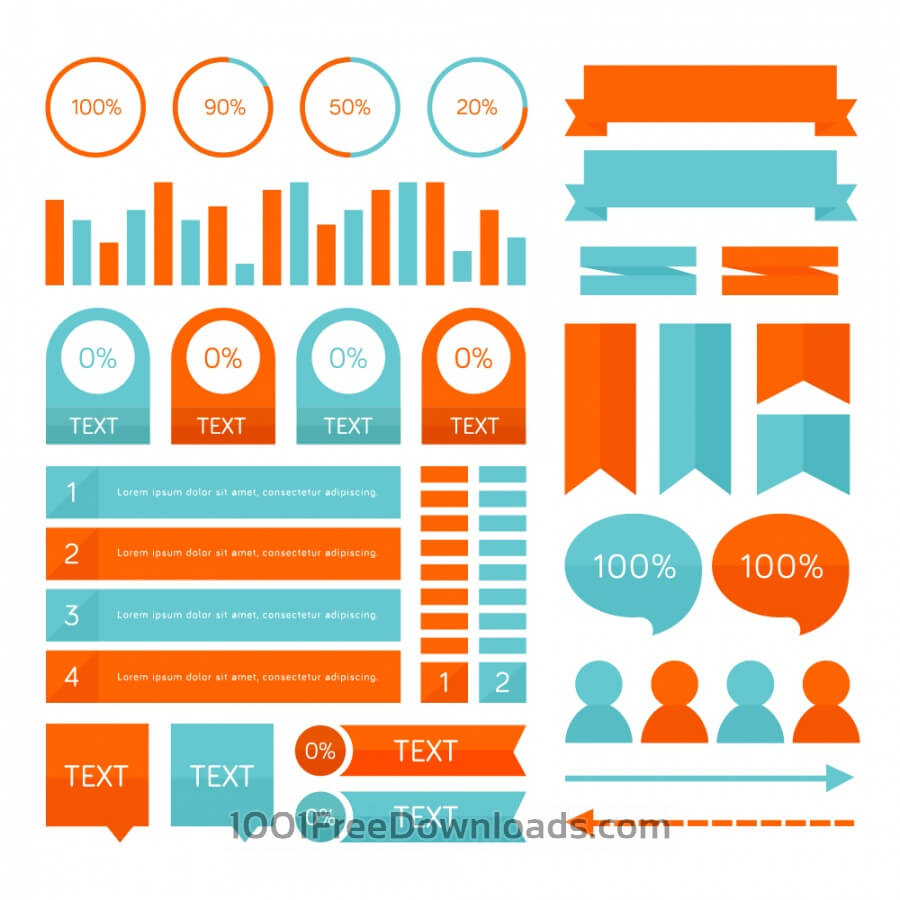 Free Vectors:  Infographic elements | Objects