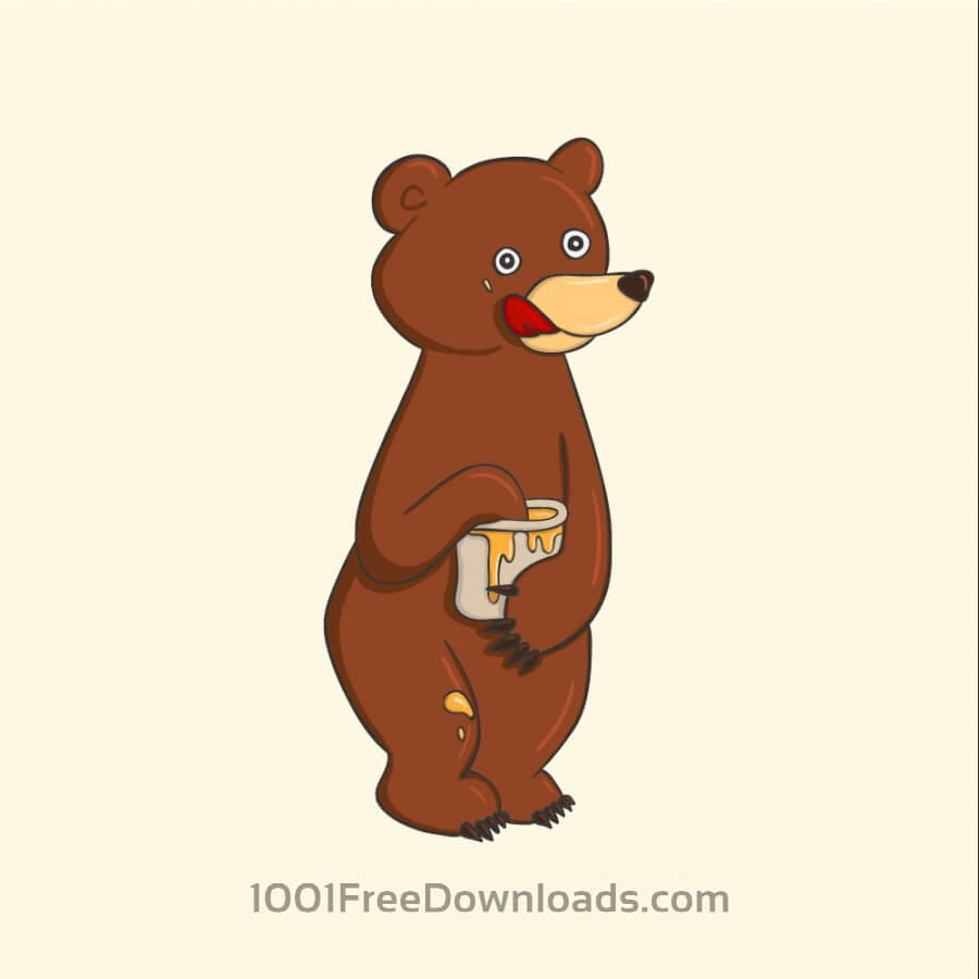 Free Vectors: Honey Bear | Animals
