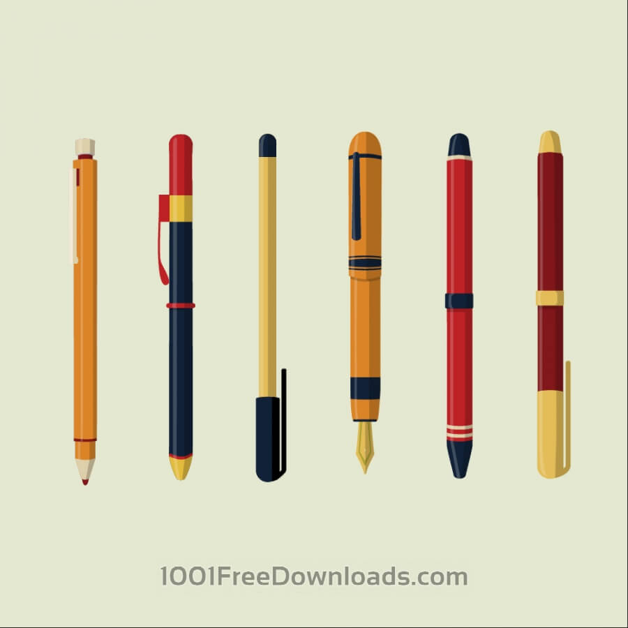 Free Vectors: Writing Instruments | Objects