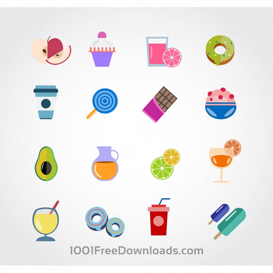 Free Vectors: Food free vector set. Icons for design | Objects