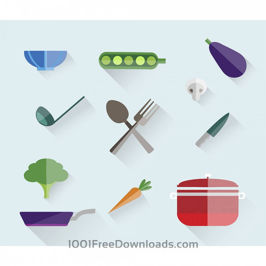 Free Vectors: Food free vector set. Icons for design | Food & Drinks