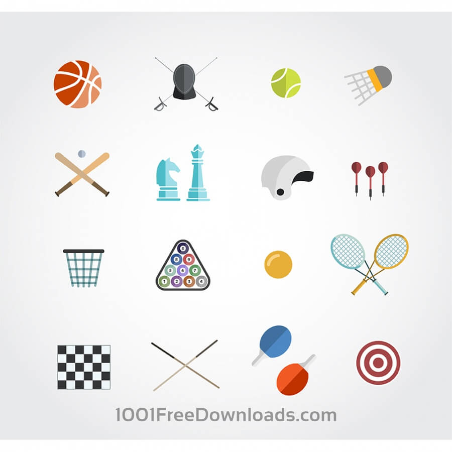 Free Sport free vector icons set for web. Free design