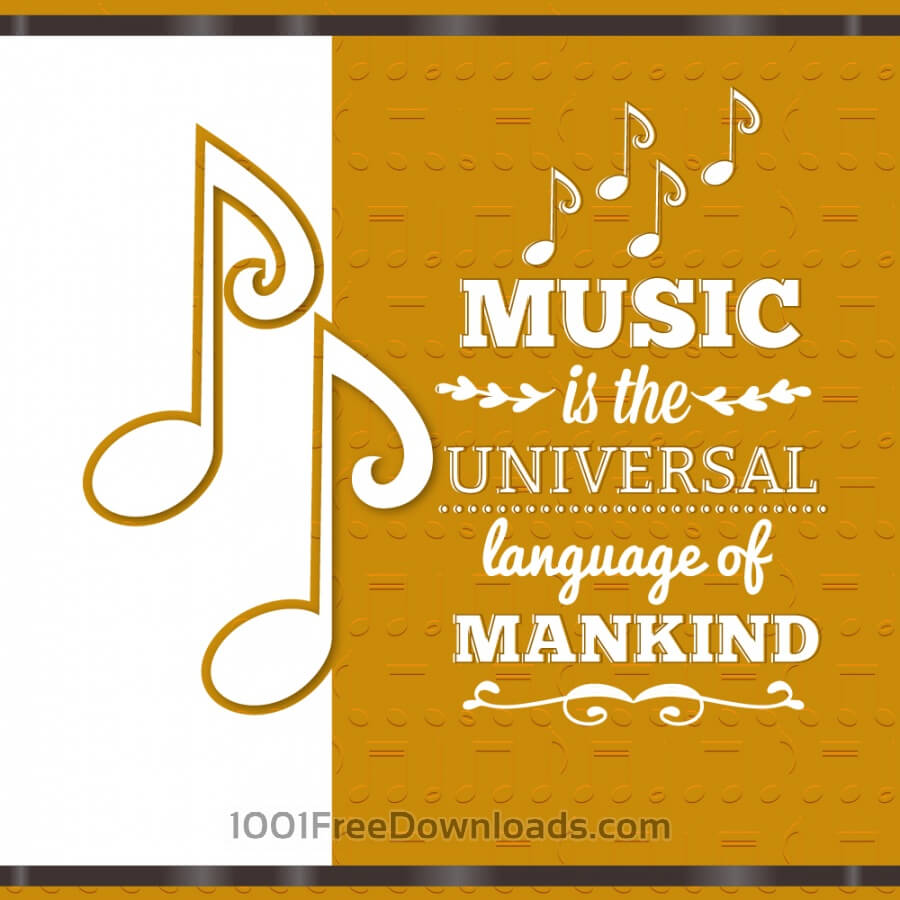 Free Music illustration with musical notes