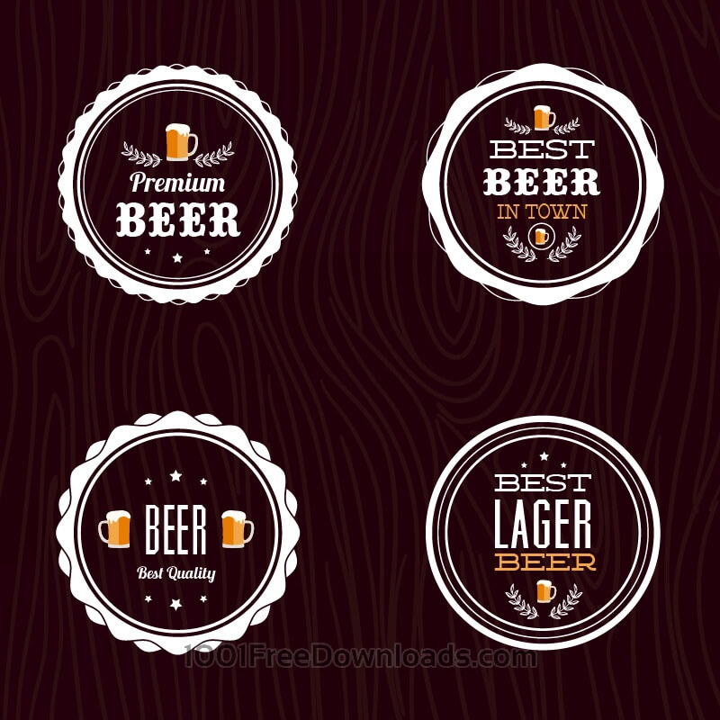 Free Set of retro styled beer labels