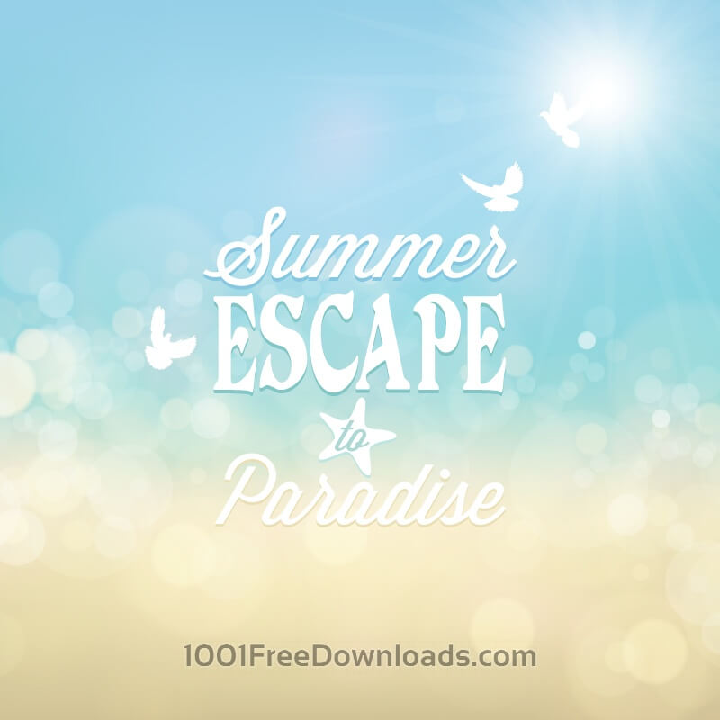 Free Vectors: Summer poster | Abstract