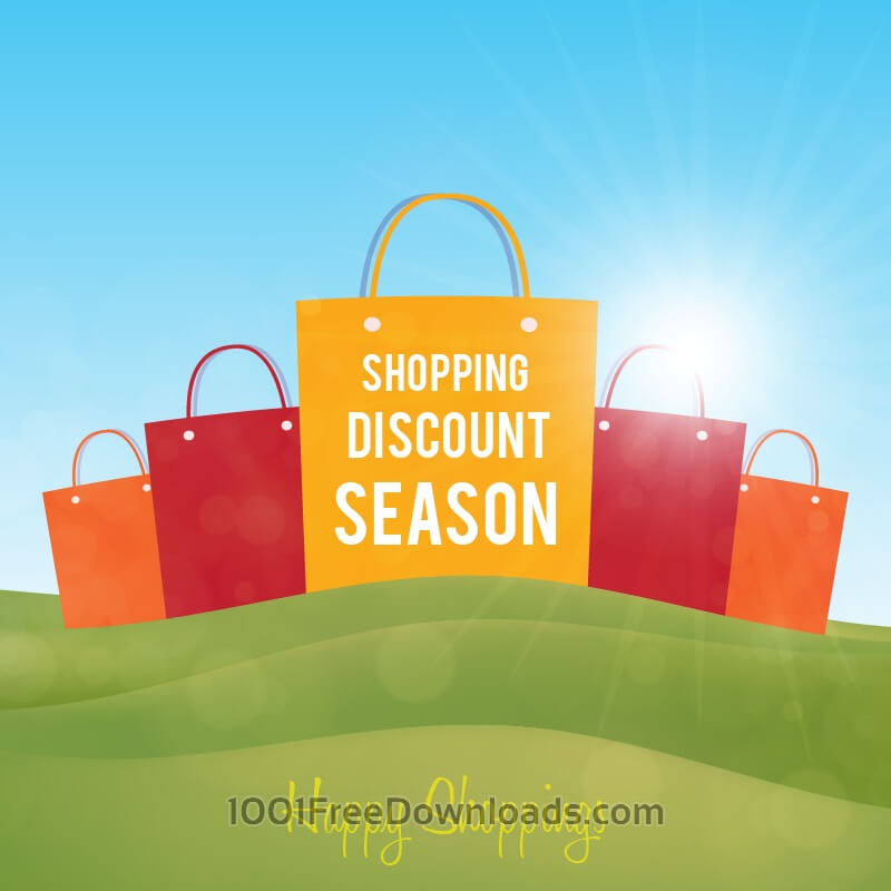Free Vectors: Shopping paper bags on green landscape | Abstract