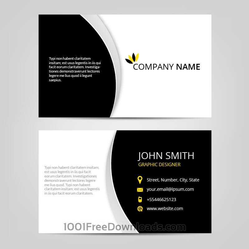 Free Vectors: Vector abstract business cards