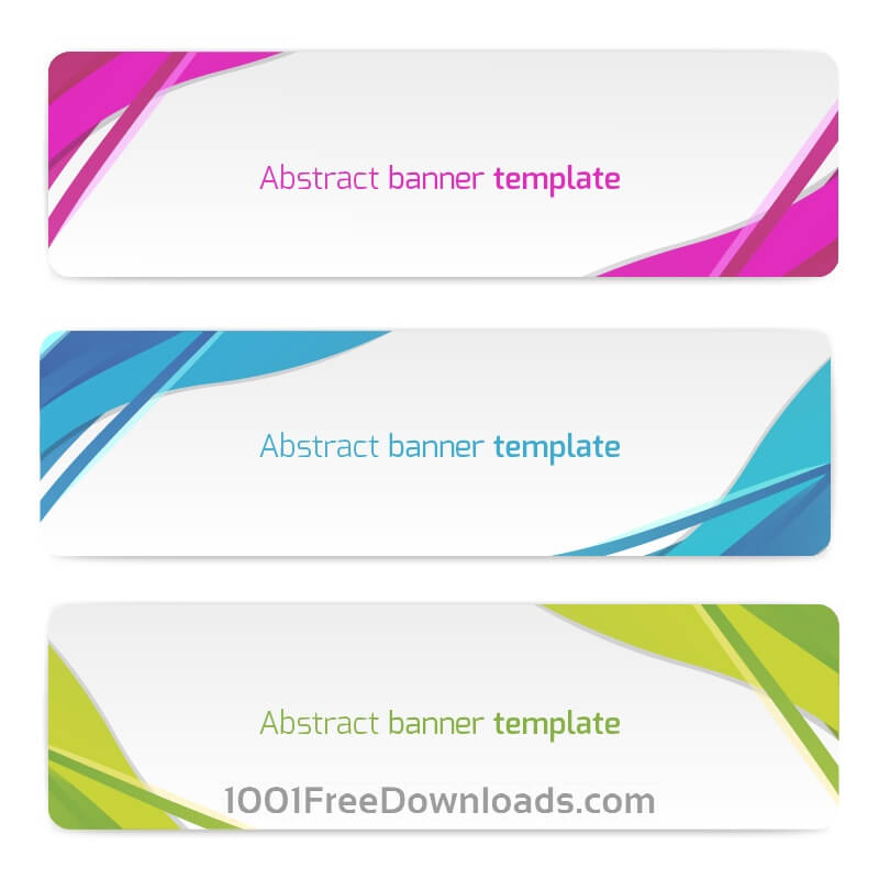 Free Vectors: Abstract vector banners | Abstract