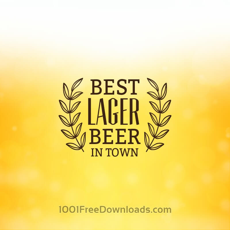 Free Vectors: Beer background with retro label | Abstract