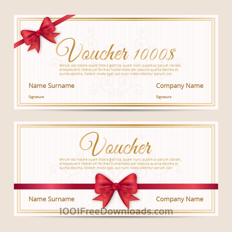 Free Voucher template cards