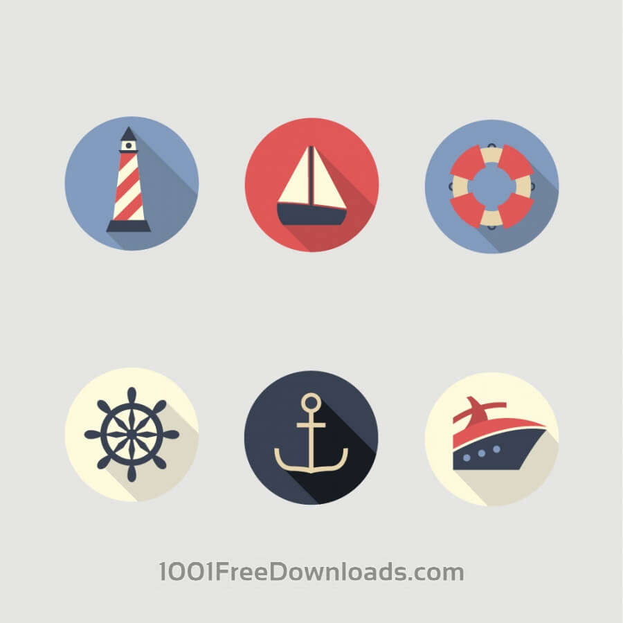 Free Vectors: Boat and Sea Icons | Icons