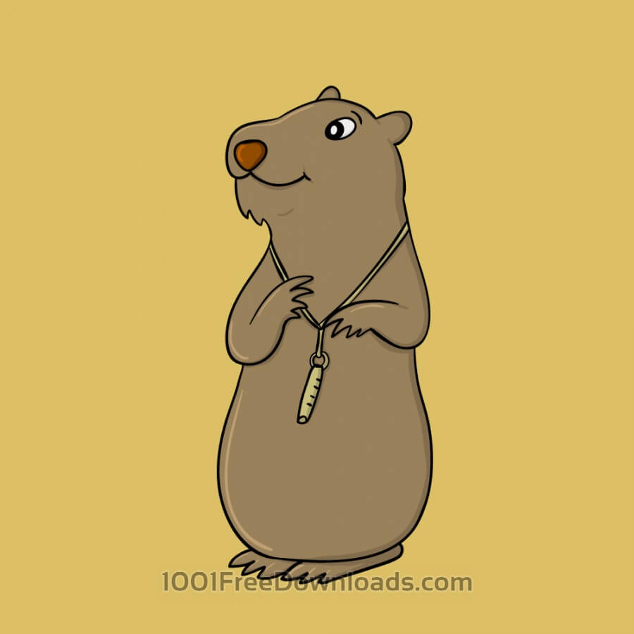 Free Vectors: Marmot and Its Whistle | Animals