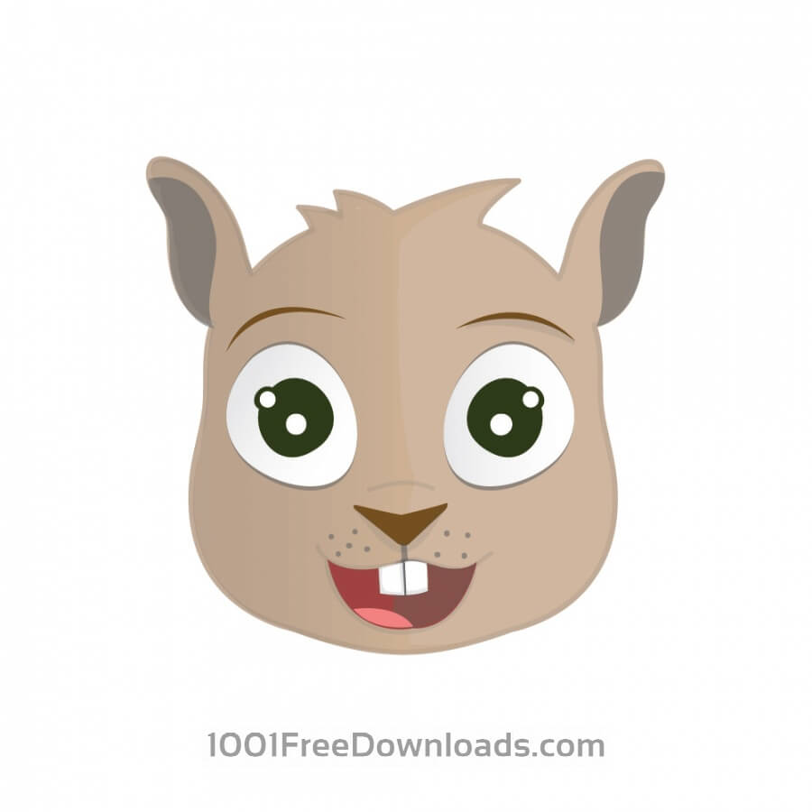 Free Vectors: Happy Squirrel Head | Animals
