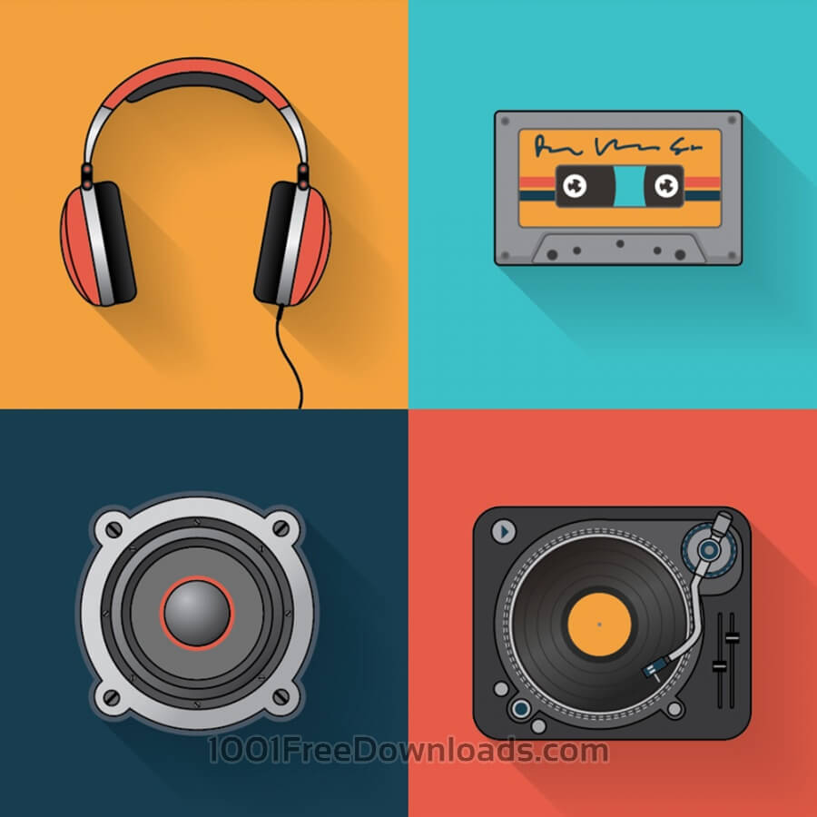 Free Music playback icon set