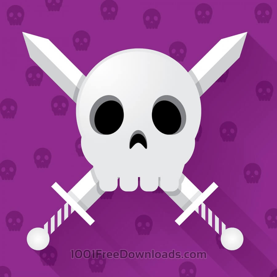 Free Skull With Crossed Swords