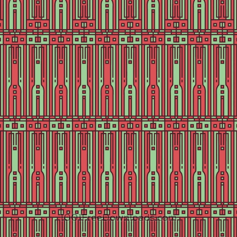 Free Tech style green and red geometric style pattern