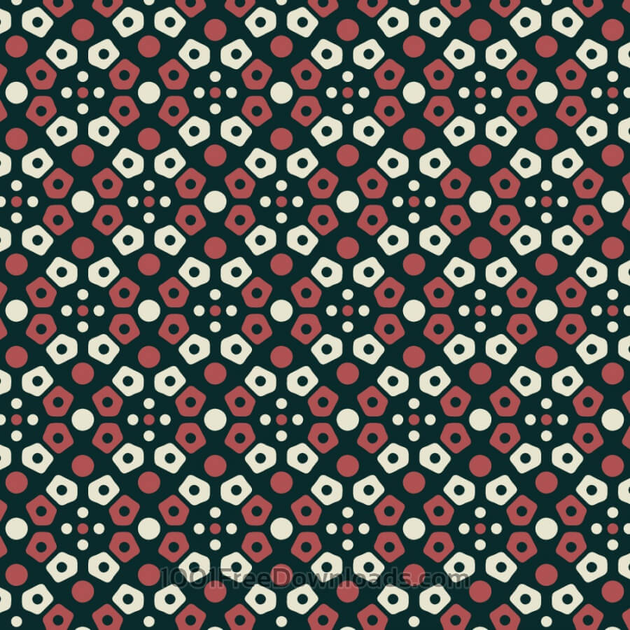 Free Retro navy, cream, and red mosaic pattern