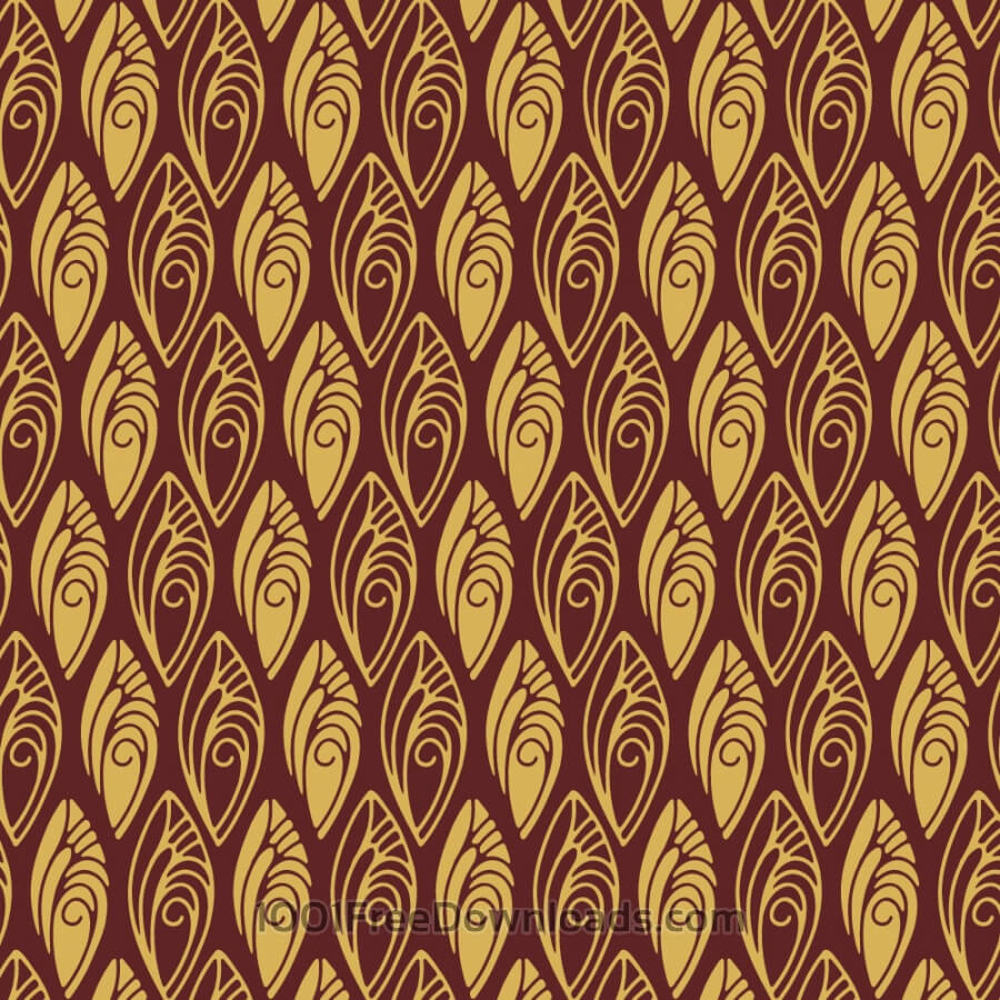 Free Vectors: 1920s Shell style Pattern | Abstract