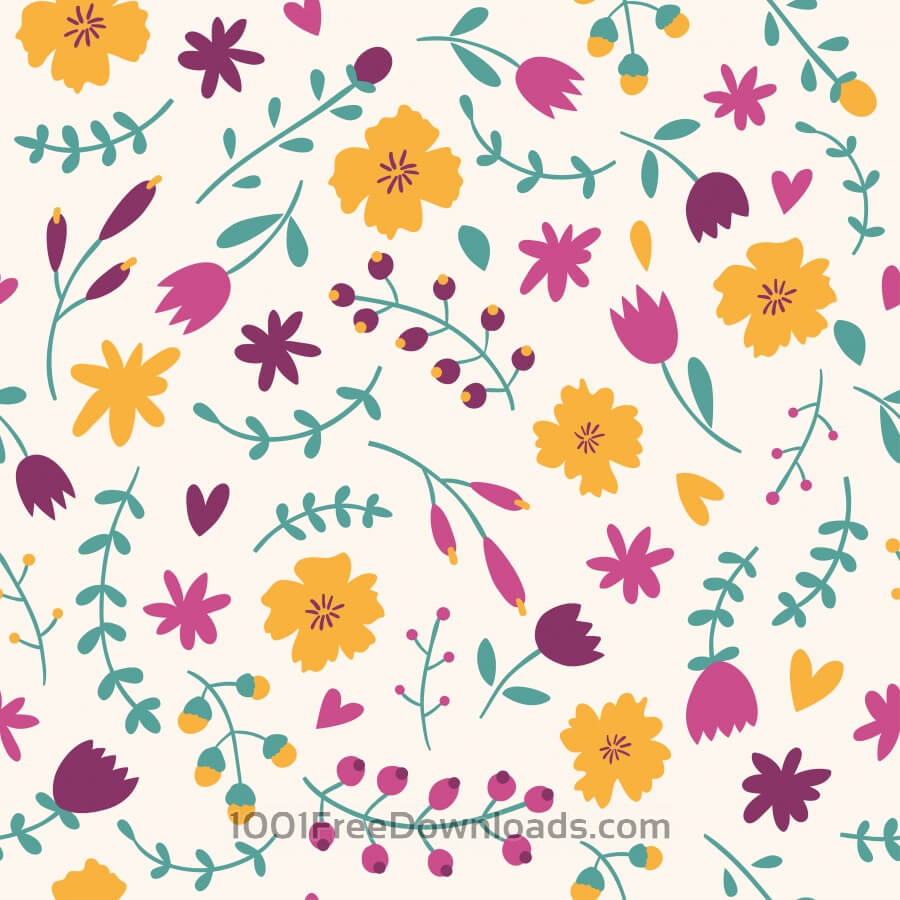 Free Vectors: Seamless floral pattern | Abstract
