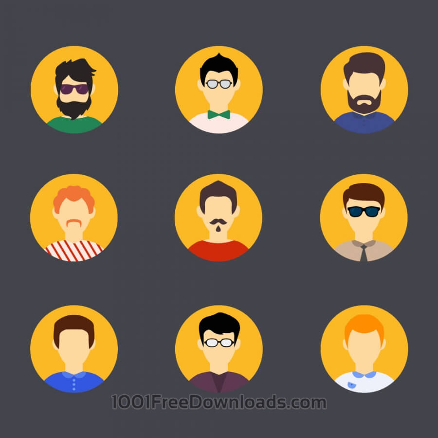 Free People vector characters with tools and objects. Free illustration for design