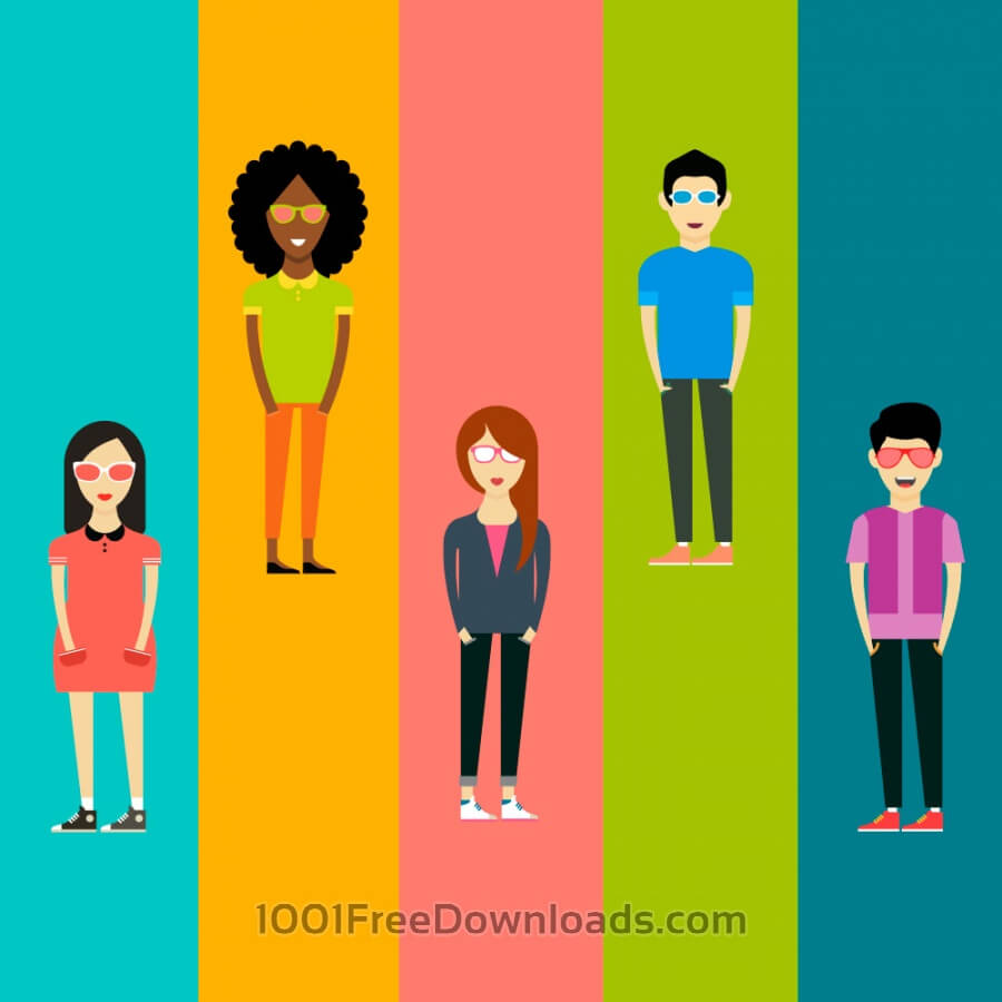 Free People vector characters. Free illustration for design
