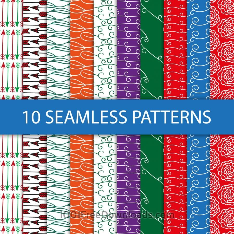Free Seamless floral patterns