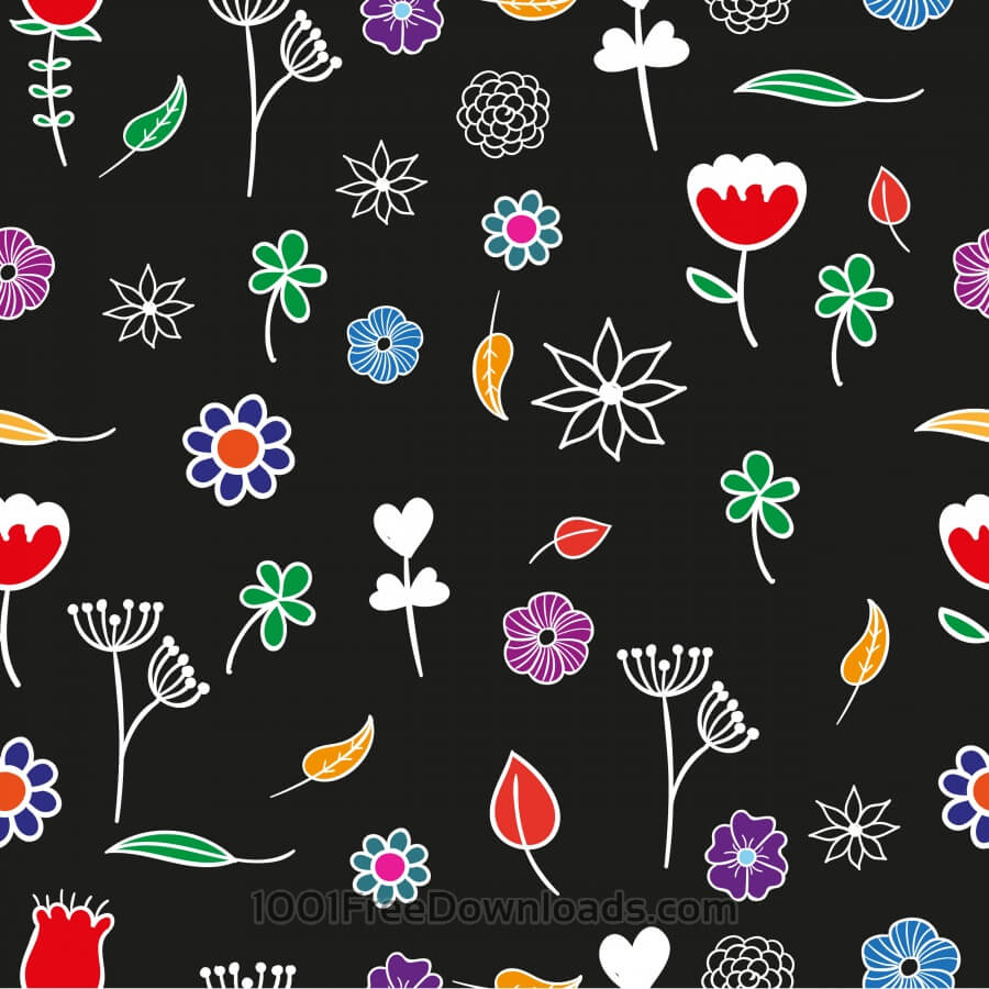 Free Seamless floral pattern