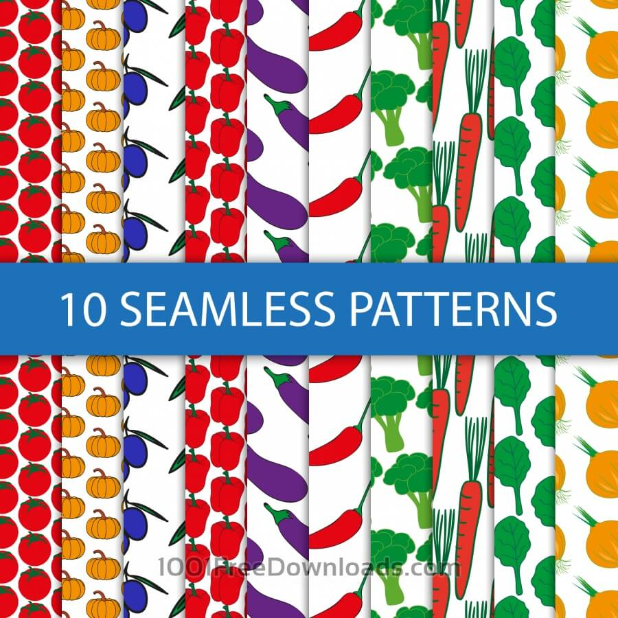 Free Food seamless pattern