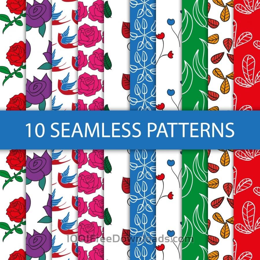 Free Vectors: Seamless floral patterns | Patterns