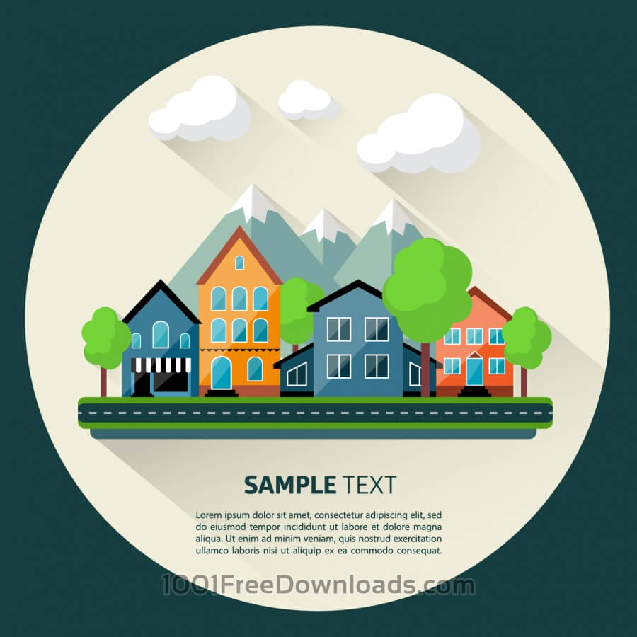 Free Vectors: Flat design urban landscape | Backgrounds